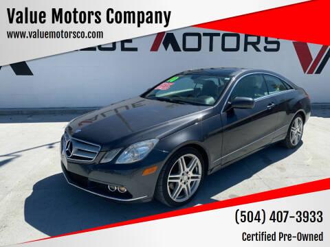 2010 Mercedes-Benz E-Class for sale at Value Motors Company in Marrero LA