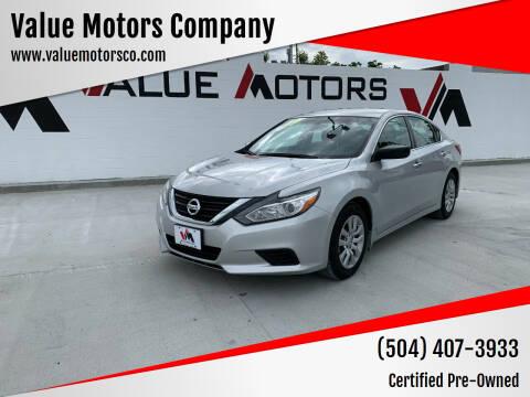 2017 Nissan Altima for sale at Value Motors Company in Marrero LA