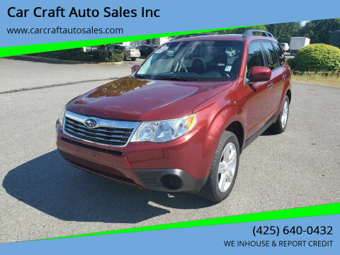 2009 Subaru Forester for sale at Car Craft Auto Sales Inc in Lynnwood WA