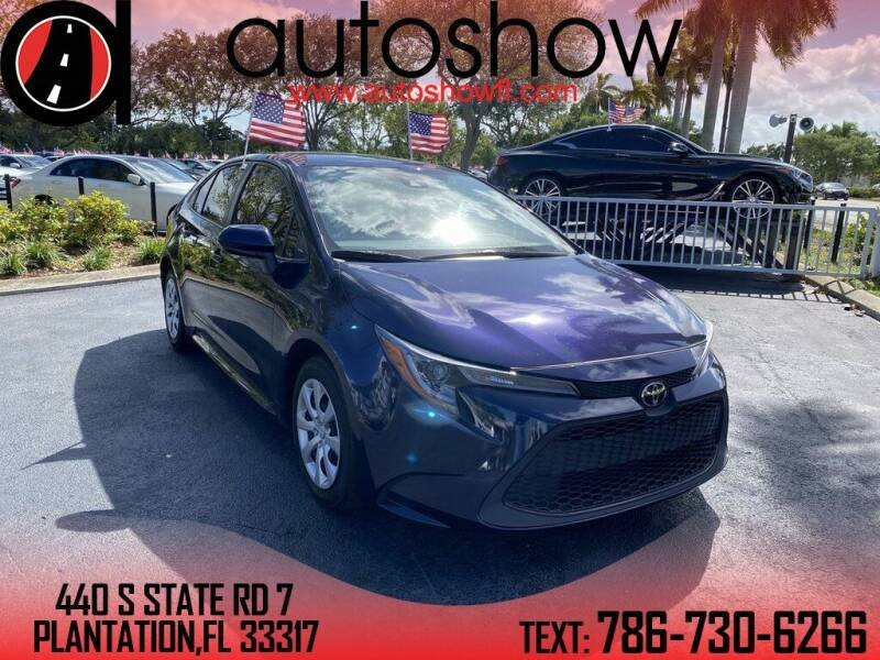 2020 Toyota Corolla for sale at AUTOSHOW SALES & SERVICE in Plantation FL