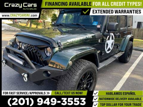 2011 Jeep Wrangler Unlimited for sale at Crazy Cars Auto Sale in Jersey City NJ