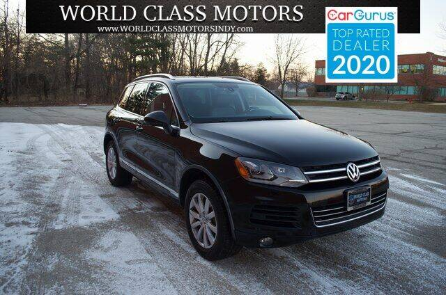 2012 Volkswagen Touareg for sale at World Class Motors LLC in Noblesville IN