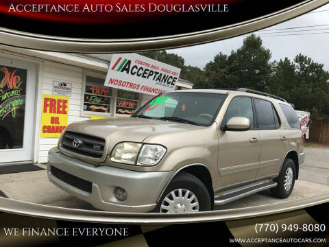 2003 Toyota Sequoia for sale at Acceptance Auto Sales Douglasville in Douglasville GA