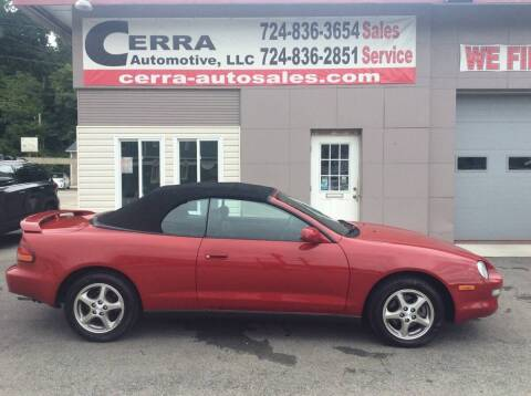1999 Toyota Celica for sale at Cerra Automotive LLC in Greensburg PA