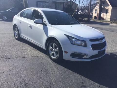 2015 Chevrolet Cruze for sale at Bromax Auto Sales in South River NJ