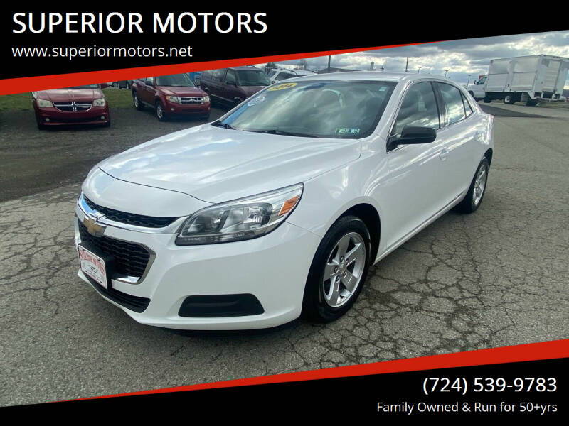 2014 Chevrolet Malibu for sale at SUPERIOR MOTORS in Latrobe PA