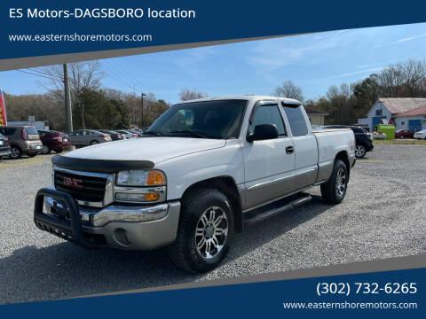 2003 GMC Sierra 1500 for sale at ES Motors-DAGSBORO location in Dagsboro DE