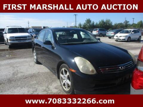 2004 Infiniti G35 for sale at First Marshall Auto Auction in Harvey IL