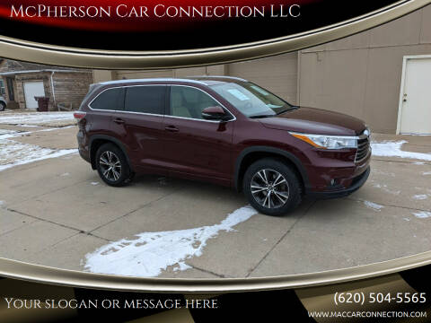 2016 Toyota Highlander for sale at McPherson Car Connection LLC in Mcpherson KS