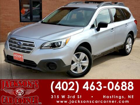 2016 Subaru Outback for sale at Jacksons Car Corner Inc in Hastings NE