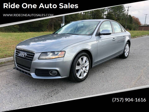 2011 Audi A4 for sale at Ride One Auto Sales in Norfolk VA