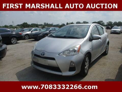 2013 Toyota Prius c for sale at First Marshall Auto Auction in Harvey IL
