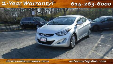 2014 Hyundai Elantra for sale at Clintonville Car Sales - AutoMart of Ohio in Columbus OH