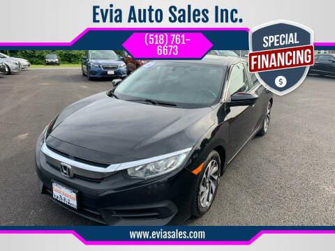 2016 Honda Civic for sale at Evia Auto Sales Inc. in Glens Falls NY