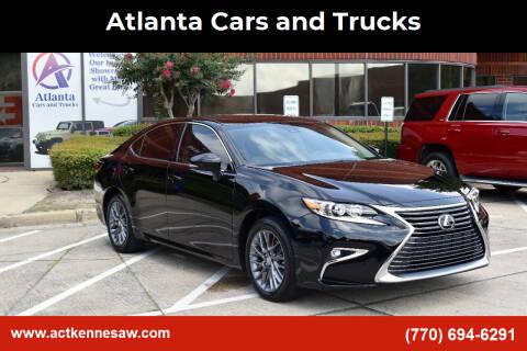 2018 Lexus ES 350 for sale at Atlanta Cars and Trucks in Kennesaw GA