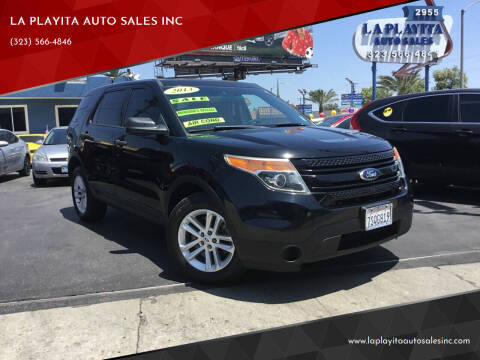 2013 Ford Explorer for sale at LA PLAYITA AUTO SALES INC in South Gate CA