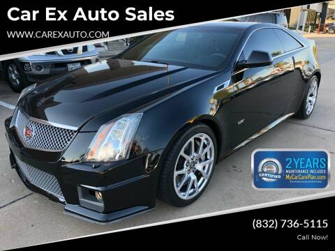 2011 Cadillac CTS-V for sale at Car Ex Auto Sales in Houston TX