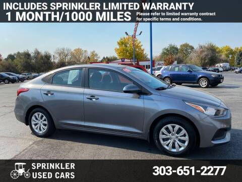 2018 Hyundai Accent for sale at Sprinkler Used Cars in Longmont CO