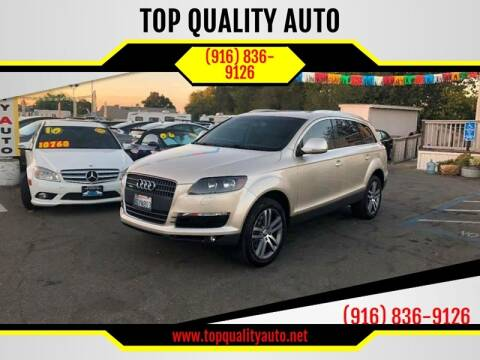 2009 Audi Q7 for sale at TOP QUALITY AUTO in Rancho Cordova CA