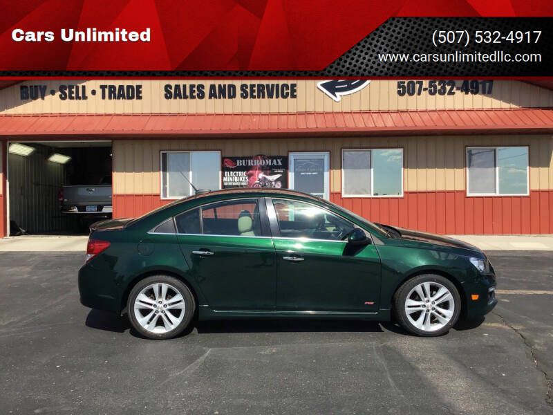 2015 Chevrolet Cruze for sale at Cars Unlimited in Marshall MN