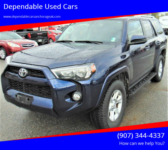 2017 Toyota 4Runner for sale at Dependable Used Cars in Anchorage AK