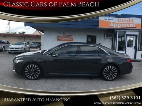 2018 Lincoln Continental for sale at Classic Cars of Palm Beach in Jupiter FL