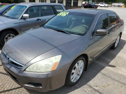 2006 Honda Accord for sale at THE TRAIN AUTO SALES & RENTALS in Taylors SC