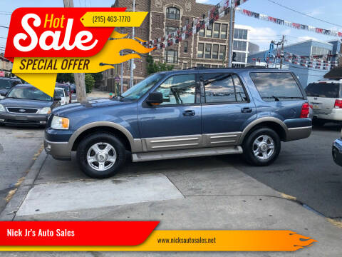 2003 Ford Expedition for sale at Nick Jr's Auto Sales in Philadelphia PA
