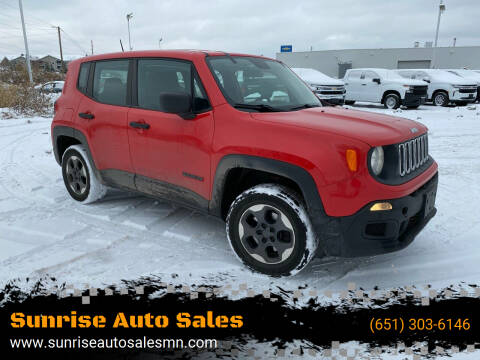 2015 Jeep Renegade for sale at Sunrise Auto Sales in Stacy MN