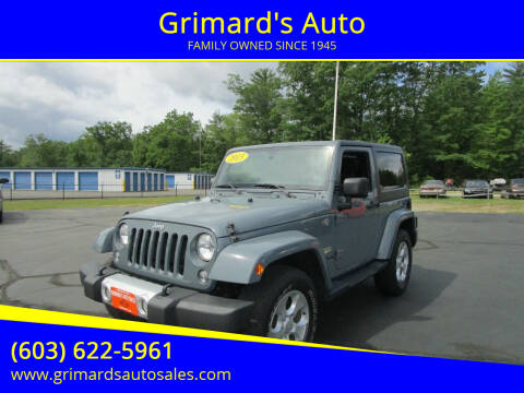 2015 Jeep Wrangler for sale at Grimard's Auto in Hooksett NH