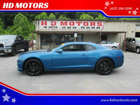 2010 Chevrolet Camaro for sale at HD MOTORS in Kingsport TN