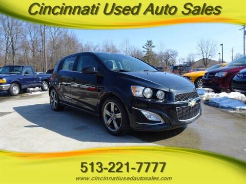 2014 Chevrolet Sonic for sale at Cincinnati Used Auto Sales in Cincinnati OH