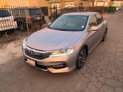 2016 Honda Accord for sale at 101 Auto Sales in Sacramento CA