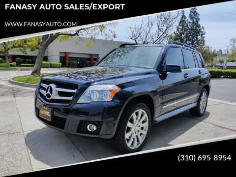 2010 Mercedes-Benz GLK for sale at FANASY AUTO SALES/EXPORT in Yorba Linda CA
