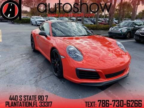 2017 Porsche 911 for sale at AUTOSHOW SALES & SERVICE in Plantation FL