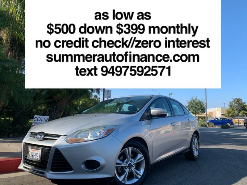 2014 Ford Focus for sale at SUMMER AUTO FINANCE in Costa Mesa CA