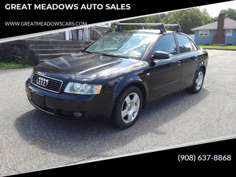 2004 Audi A4 for sale at GREAT MEADOWS AUTO SALES in Great Meadows NJ