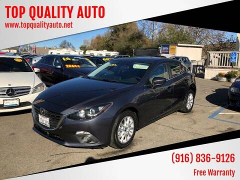 2016 Mazda MAZDA3 for sale at TOP QUALITY AUTO in Rancho Cordova CA