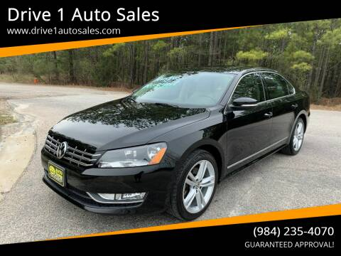 2013 Volkswagen Passat for sale at Drive 1 Auto Sales in Wake Forest NC