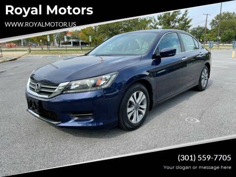 2014 Honda Accord for sale at Royal Motors in Hyattsville MD