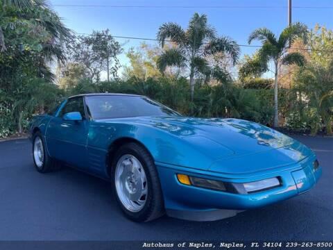 1993 Chevrolet Corvette for sale at Autohaus of Naples in Naples FL