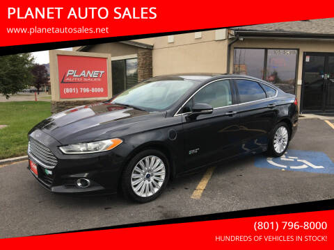 2015 Ford Fusion Energi for sale at PLANET AUTO SALES in Lindon UT