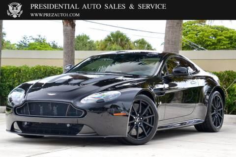 2017 Aston Martin V12 Vantage S for sale at Presidential Auto  Sales & Service in Delray Beach FL