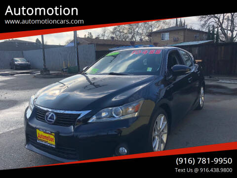2011 Lexus CT 200h for sale at Automotion in Roseville CA
