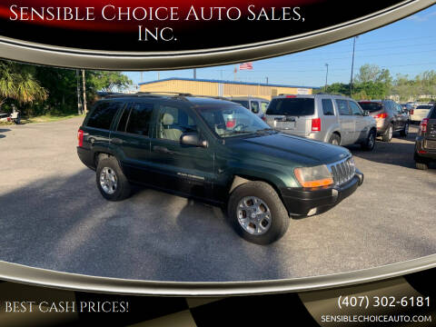 2000 Jeep Grand Cherokee for sale at Sensible Choice Auto Sales, Inc. in Longwood FL