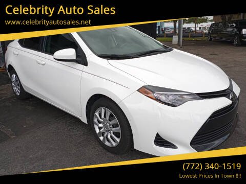 2017 Toyota Corolla for sale at Celebrity Auto Sales in Port Saint Lucie FL