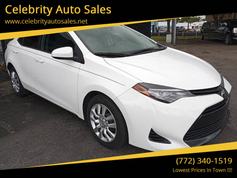 2017 Toyota Corolla for sale at Celebrity Auto Sales in Fort Pierce FL