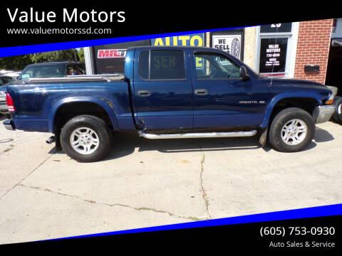 2002 Dodge Dakota for sale at Value Motors in Watertown SD