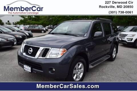 2012 Nissan Pathfinder for sale at MemberCar in Rockville MD