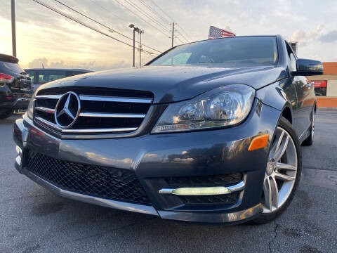 2014 Mercedes-Benz C-Class for sale at LATINOS MOTOR OF ORLANDO in Orlando FL